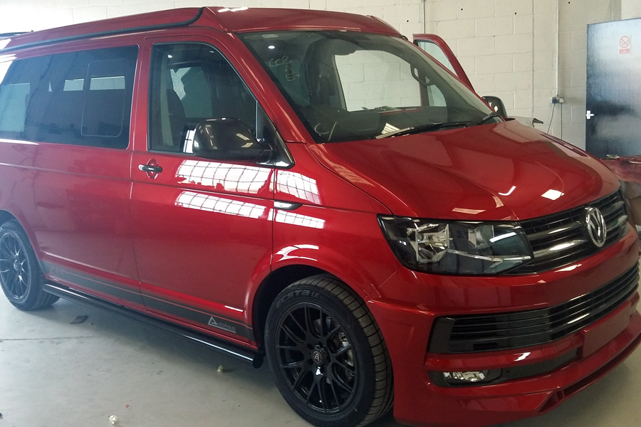 Candy-Red-T6-Campervan-Minehead-Auto-Body-Repairs